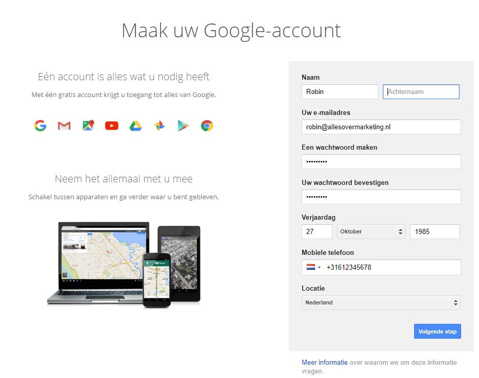 Hoe maak je een google analytics account aan - Hoe een kleedkamer aanmaken ...