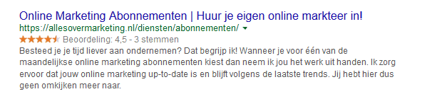 Lokale vindbaarheid Google sterren reviews