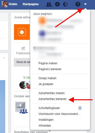 Facebook pixel maken