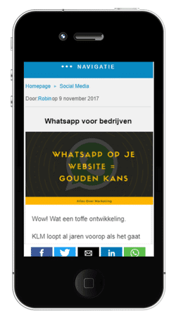 AMP mobiel voorbeeld Alles over Marketing