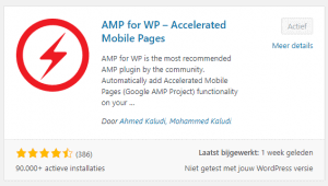 Accelarated Mobile Pages Plugin