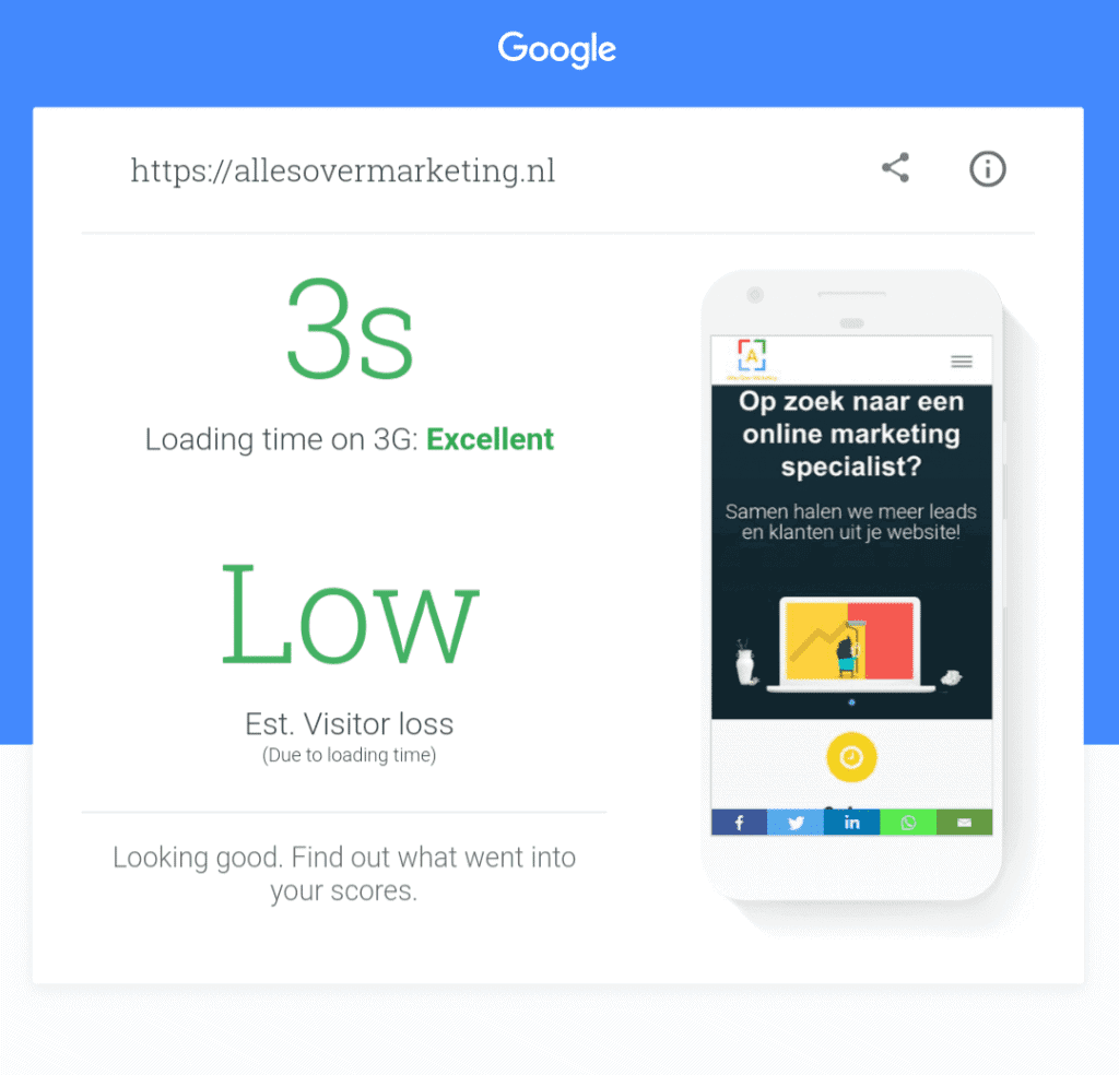 Google website speed mobile