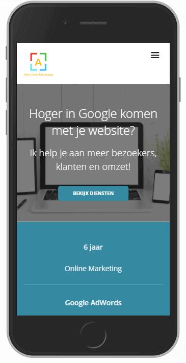 Mobiele responsive website
