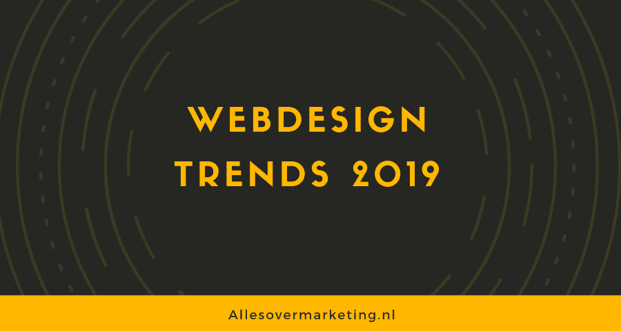 Webdesign trends 2019 [Infographic]